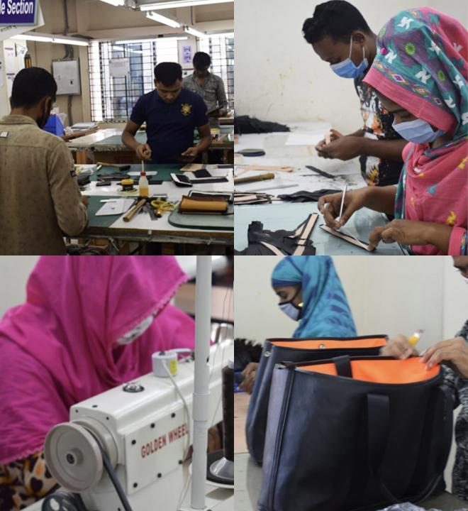 バングラデシュ<br /> 首都ダッカに自社工場あり