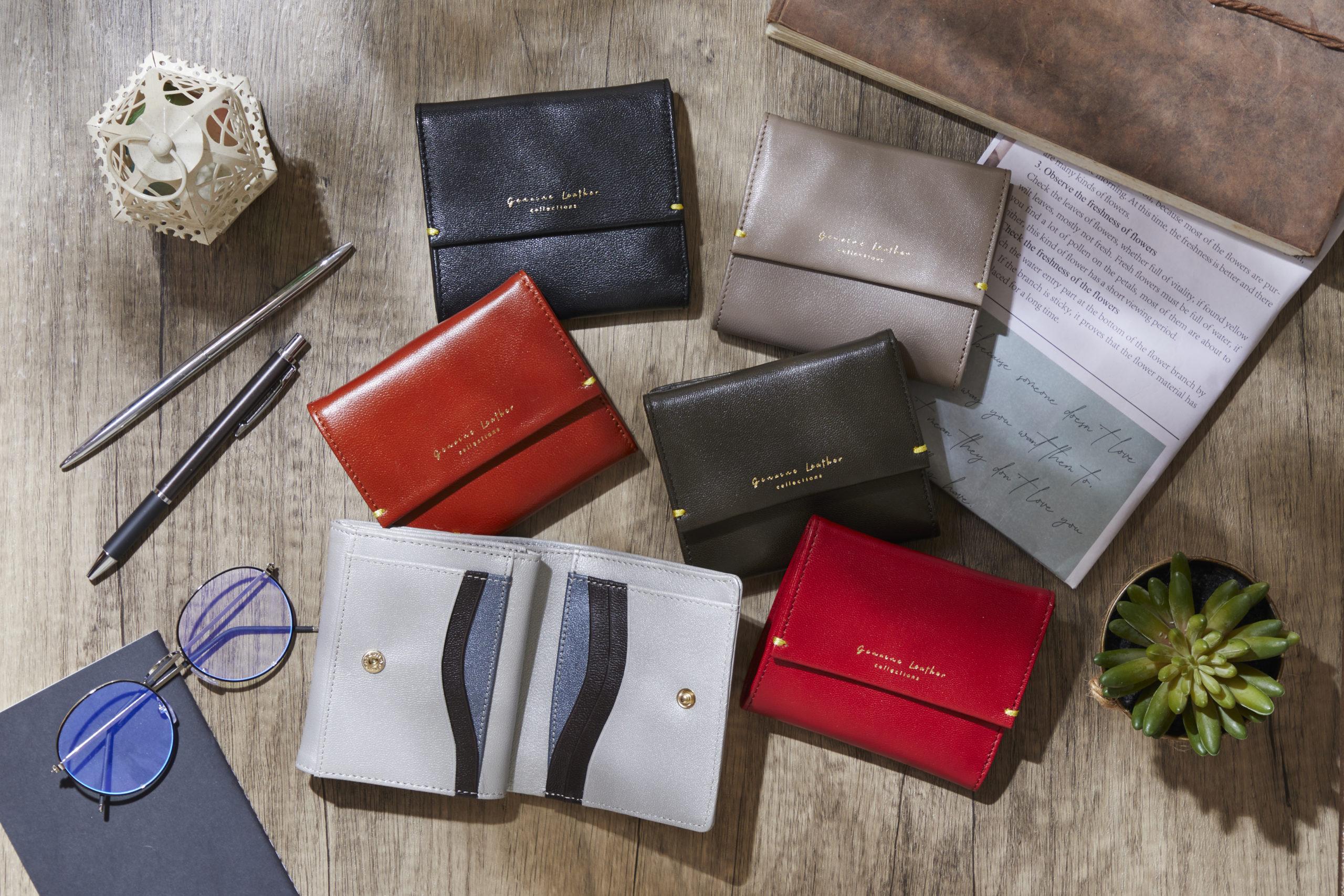 職人が作るリーズナブルで遊びこころがあるコンパクトレザー財布
